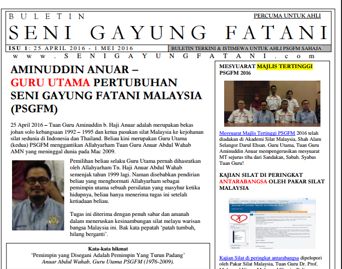 Screenshot Buletin PSGFM